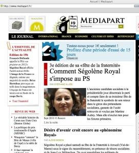 Nettstedet Mediapart.fr står bak avsløringene som ryster Frankrike.